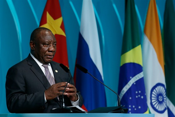 Will Chairing the African Union Be a Poisoned Chalice for South Africa?