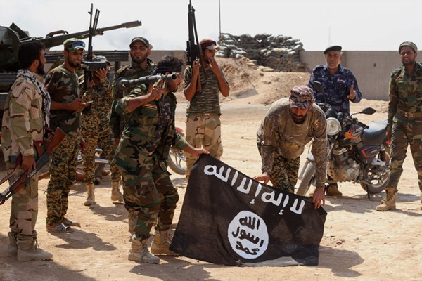 An ISIS flag in Iraq