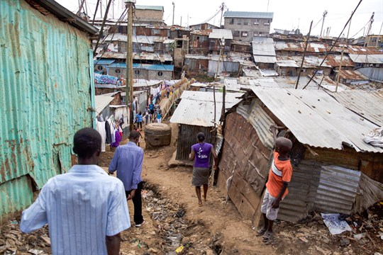 Informal settlements in Nairobi might also benefit from a UBI trial (dpa photo by Miro images).