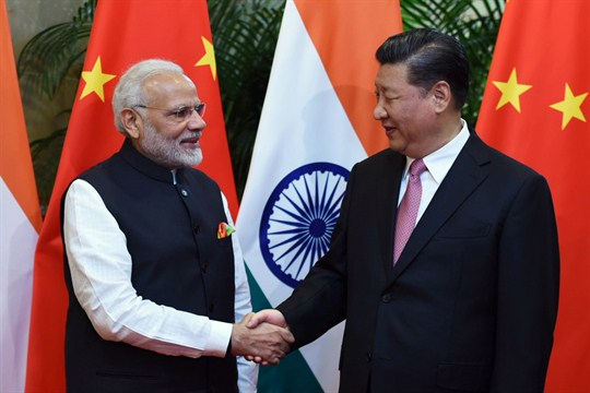 Indian Prime Minister Narendra Modi and Chinese President Xi Jinping.