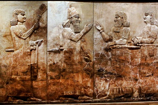 A bas-relief at the Iraqi National Museum in Baghdad.