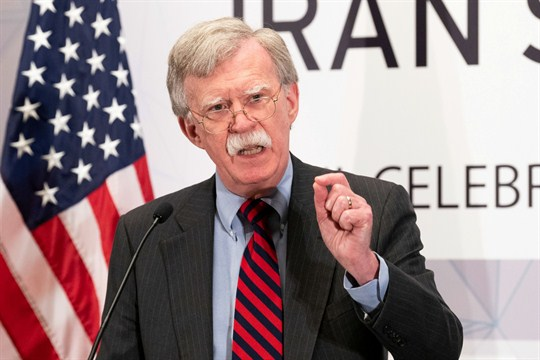 John Bolton, a past proponent of striking Iran, speaks at the United Against Nuclear Iran summit.