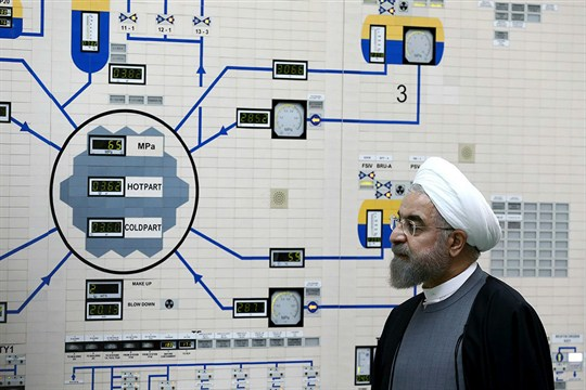 Iranian President Hassan Rouhani visits the Bushehr nuclear power plant.