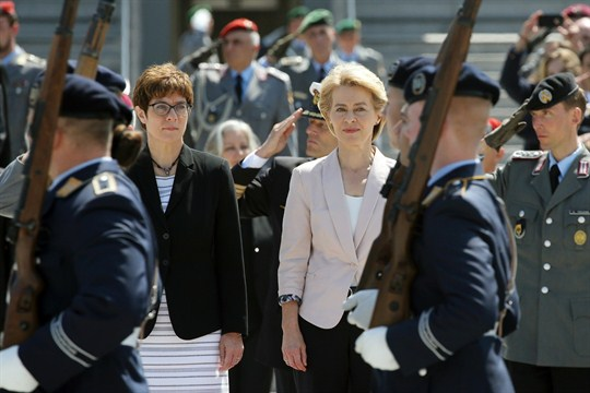 Ursula von der Leyen, outgoing Minister of Defense and newly elected president of the EU Commission