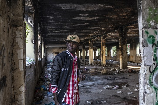 Lamin Saidykhan, among the thousands of migrants in Italy, in a squatter settlement near Rome.