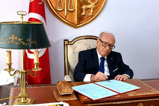 Beji Caid Essebsi, Tunisia's first democratically elected president, who passed away July 25