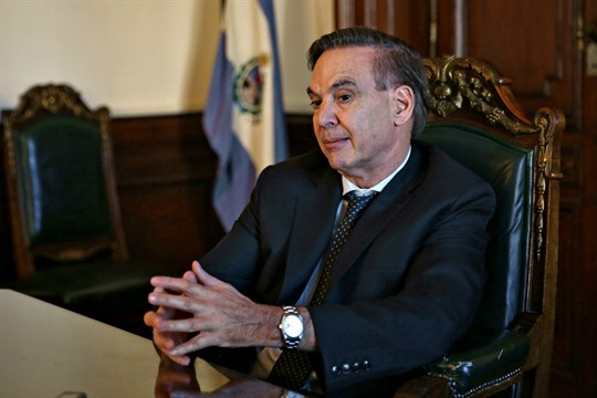 Miguel Angel Pichetto, senator with Argentina's Justicialist party, and President Mauricio Macri's vice presidential candidate.