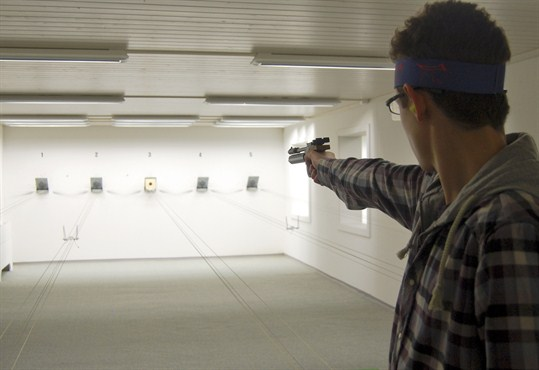 Swiss gun laws are tightening, as a man trains at a shooting range near Bern.