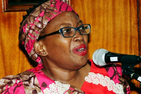 Stella Nyanzi, a critic who was sentenced to jail for insulting Ugandan President Yoweri Museveni.