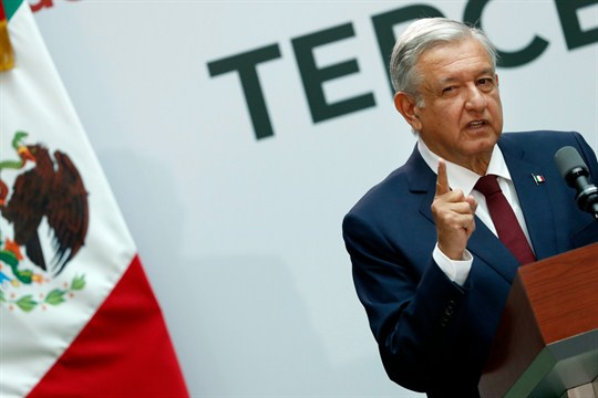 Mexican President Andres Manuel Lopez Obrador gives his first year's state of the nation address