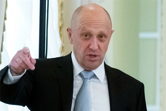 Businessman Yevgeny Prigozhin at the Konstantin palace outside St. Petersburg, Russia