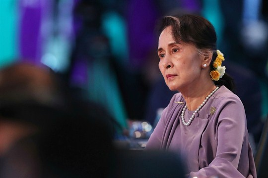 Myanmar leader Aung San Suu Kyi at the ASEAN-Australia Special Summit in Sydney.
