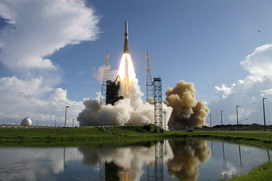 A United Launch Alliance Delta IV rocket lifts off from Cape Canaveral Air Force Station