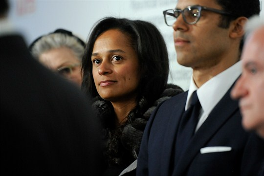 Isabel dos Santos at the opening of an art exhibition in Porto, Portugal.