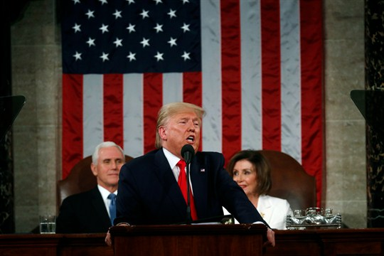 President Donald Trump delivers his State of the Union address to a joint session of Congress.