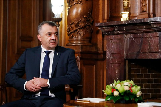 Moldovan Prime Minister Ion Chicu at a meeting in Moscow.