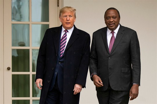 President Donald Trump and Kenyan President Uhuru Kenyatta at the White House