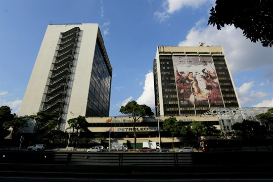 The headquarters of the Venezuelan state-owned oil company PDVSA in Caracas, Venezuela