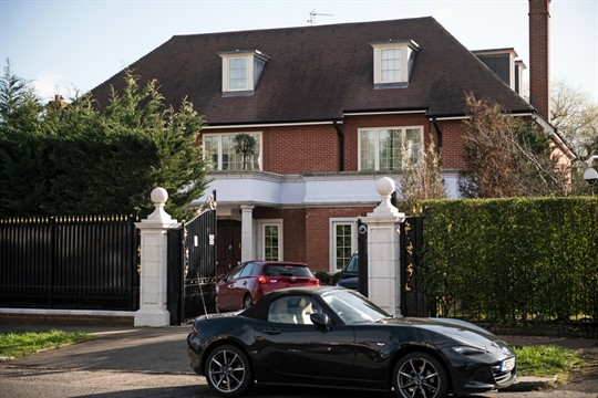 A property in Hampstead, north London, which is the home of Kazakh national Nurali Aliyev.