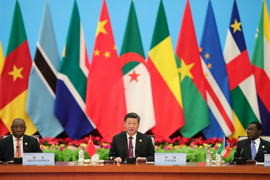 Chinese President Xi Jinping during the 2018 Beijing Summit of the Forum on China-Africa Cooperation