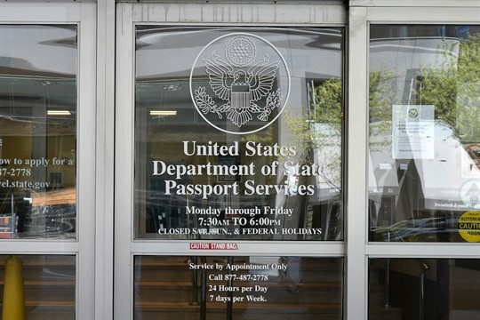 Outside view of a United States Citizenship and Immigration Services Application Support Center in New York