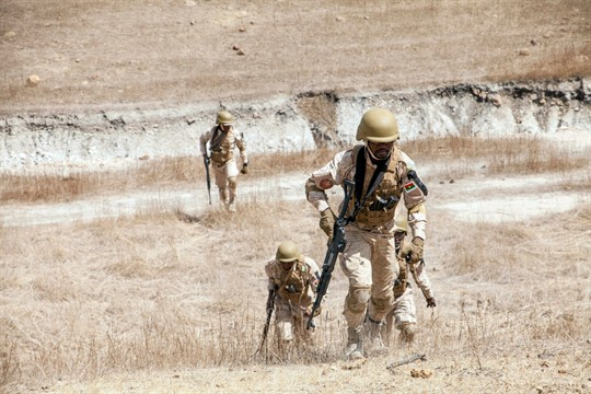 Burkina Faso paratroopers participate in an annual counterterrorism exercise in Thies, Senegal