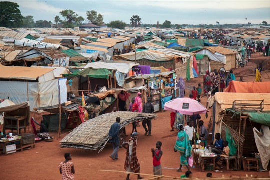 A United Nations camp for internally displaced people in Wau, South Sudan.
