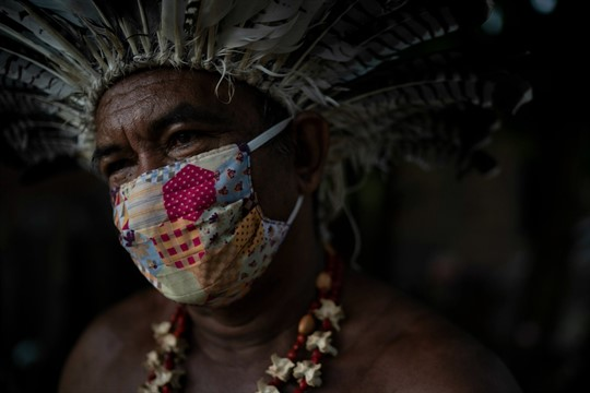 Pedro dos Santos, the leader of a community named Park of Indigenous Nations, in Manaus, Brazil