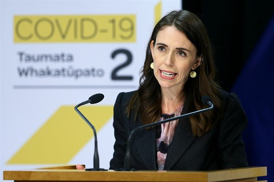 New Zealand's prime minister, Jacinda Ardern, at a press conference in Wellington, New Zealand