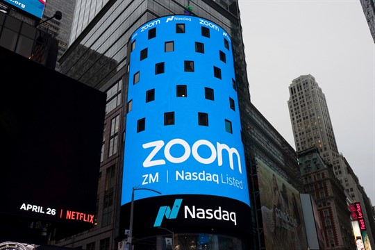 A sign for Zoom in New York
