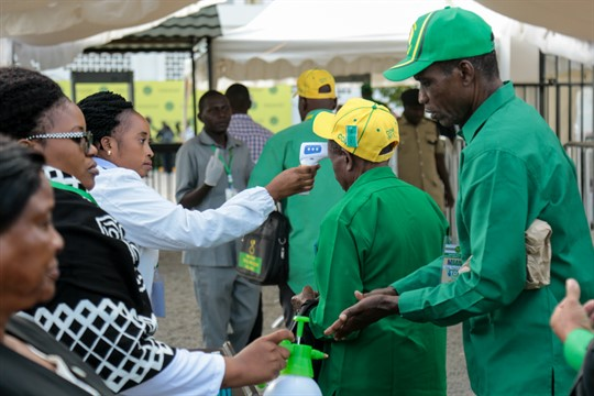 Party members at the national congress of the ruling Chama Cha Mapinduzi in Dodoma, Tanzania