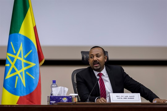 Ethiopian Prime Minister Abiy Ahmed at his office in Addis Ababa, Ethiopia