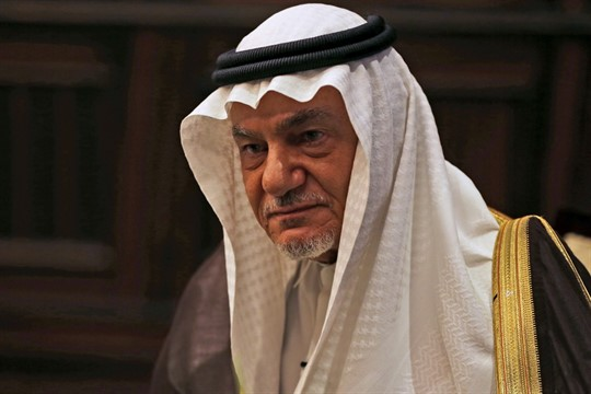Saudi Prince Turki al-Faisal during an interview in Abu Dhabi, United Arab Emirates