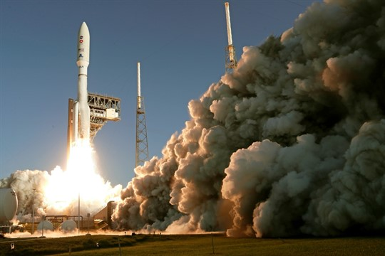 The rocket carrying NASA's new Mars rover lifts off from Cape Canaveral Air Force Station