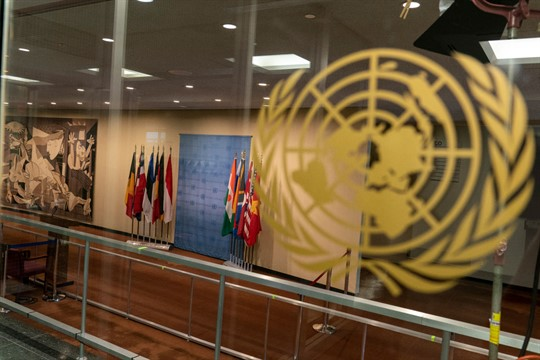 A Security Council area of U.N. headquarters during the 75th session of the U.N. General Assembly