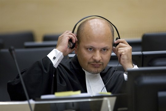 Karim Khan in the courtroom of the Special Court for Sierra Leone in The Hague, 2007