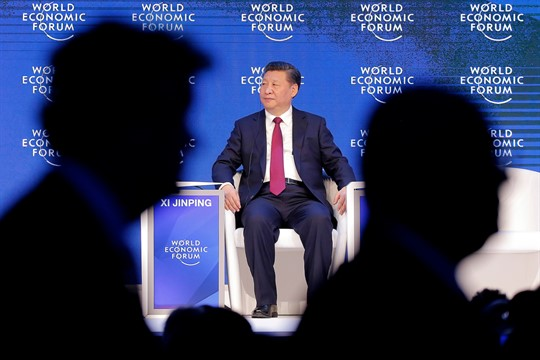Chinese President Xi Jinping at the World Economic Forum in Davos