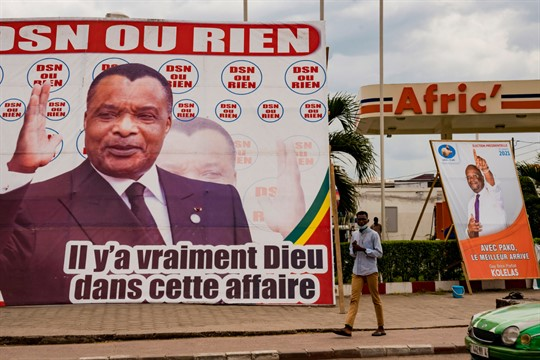 Election posters in Brazzaville, Congo