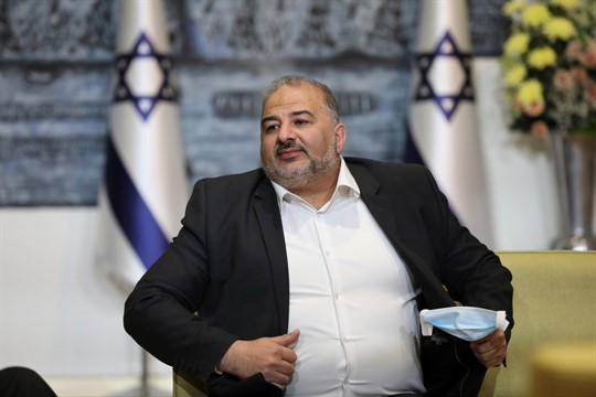 Mansour Abbas, leader of the United Arab List party, in Jerusalem