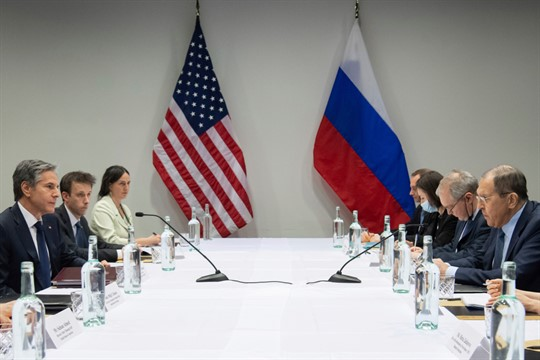 U.S. Secretary of State Antony Blinken meets with Russian Foreign Minister Sergey Lavrov in Reykjavik, Iceland