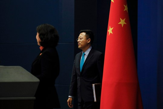 Chinese Foreign Ministry spokesman Zhao Lijian at a daily briefing in Beijing