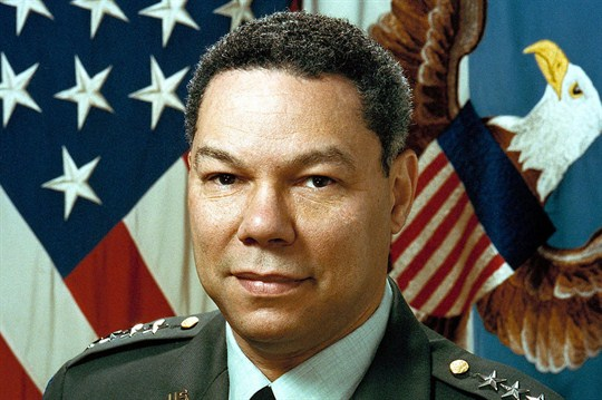 Former Joint Chiefs of Staff Chairman Colin Powell, eponym of the Powell Doctrine.