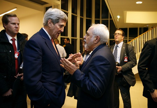 U.S. Secretary of State John Kerry uses diplomatic skill with Iranian Foreign Minister Mohammad Javad Zarif.