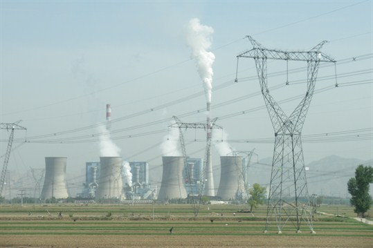 A a coal-fired power plant in Shuozhou, Shanxi, China.