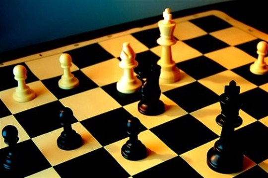 A chessboard, a metaphor for the nature of power in the 21st century.